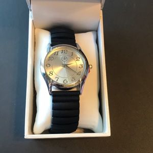 Accessories - Nib black rubber banded watch